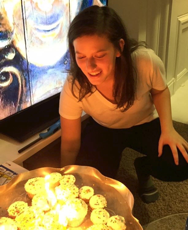 Hadas at one of her many birthday celebrations here in Cincinnati.