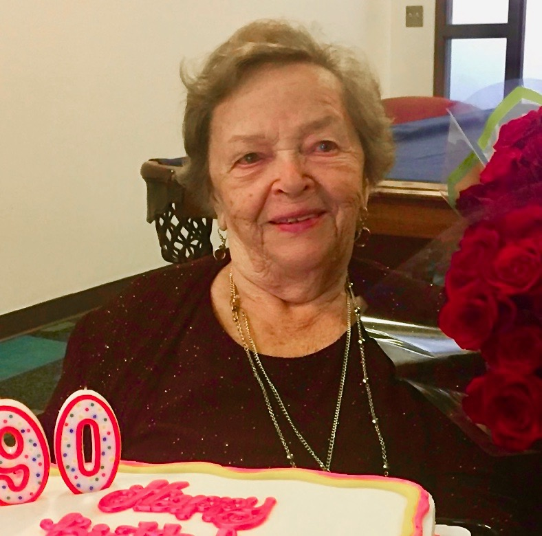 Cool Mila With 90Th Birthday Cake Jewish Cincinnati News Personalised Birthday Cards Paralily Jamesorg